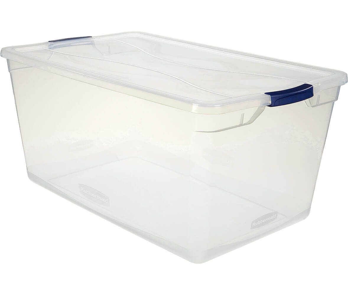 Cleverstore™ 95-Quart Clear Storage Box
